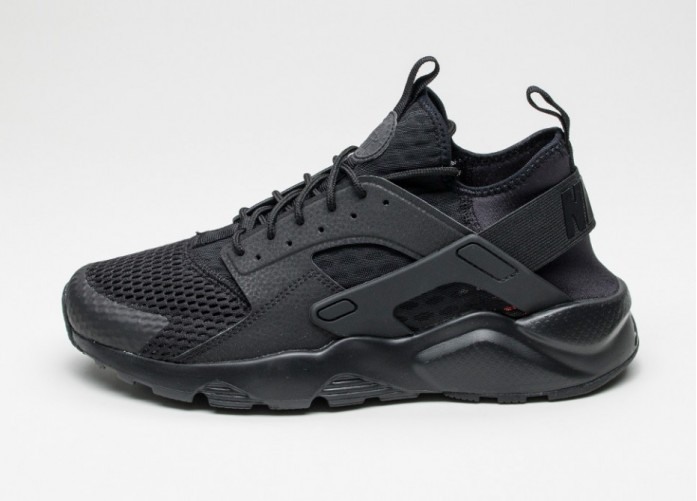 Мужские кроссовки Nike Air Huarache Run Ultra BR (Black / Black) | Интернет-магазин Sole