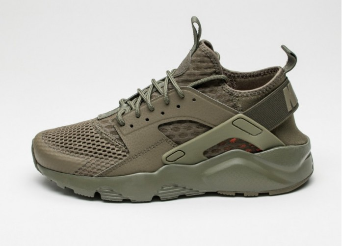 Мужские кроссовки Nike Air Huarache Run Ultra BR (Medium Olive / Medium Olive) | Интернет-магазин Sole