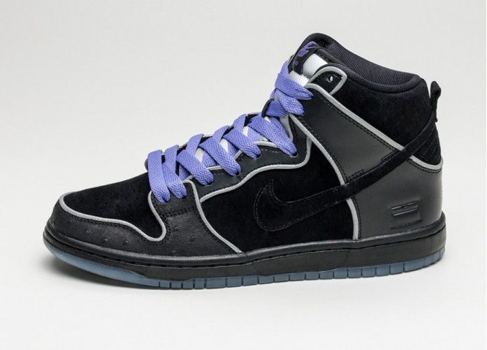 Мужские кроссовки Nike SB Dunk High Elite *Purple Box* (Black / Black - White - Purple Haze) | Интернет-магазин Sole