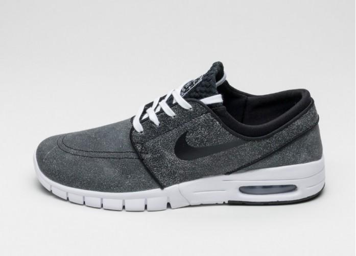 Мужские кроссовки Nike SB Stefan Janoski Max L PRM (Black / Black - White - Wolf Grey) | Интернет-магазин Sole