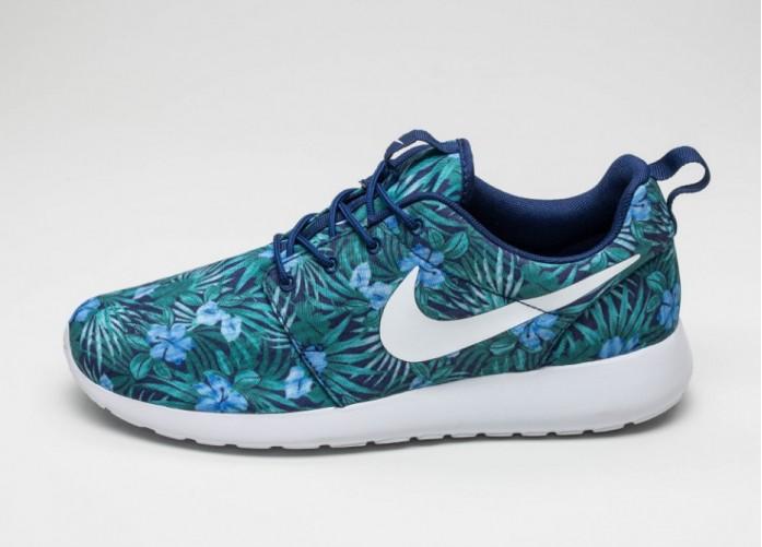 Мужские кроссовки Nike Roshe One Print PREM (Loyal Blue / White) | Интернет-магазин Sole