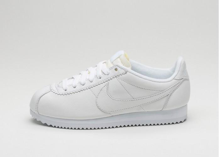 Мужские кроссовки Nike Wmns Classic Cortez Leather PRM (White / White) | Интернет-магазин Sole
