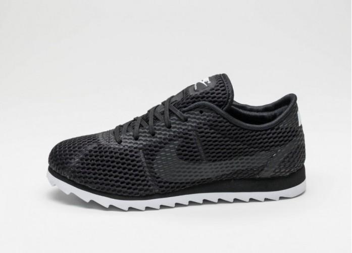 Мужские кроссовки Nike Wmns Cortez Ultra BR (Black / Black - White) | Интернет-магазин Sole