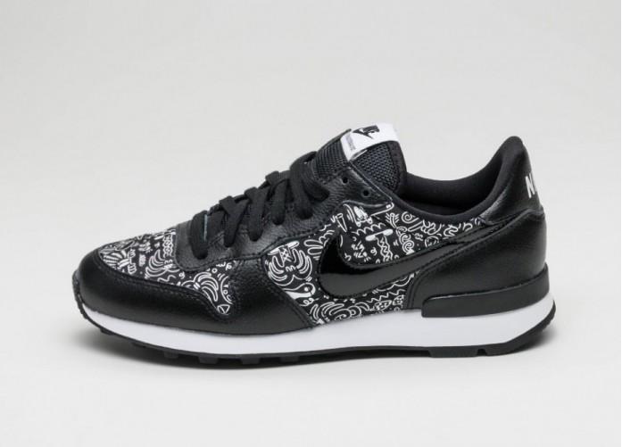 Мужские кроссовки Nike Wmns Internationalist Print (Black / Black - White) | Интернет-магазин Sole