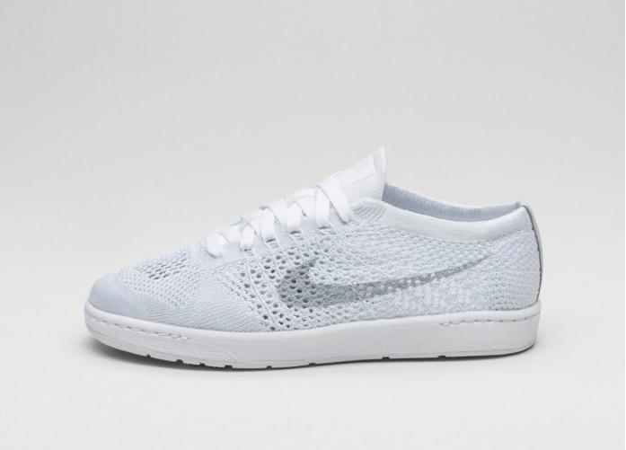 Мужские кроссовки Nike Wmns Tennis Classic Ultra Flyknit (White / Wolf Grey)   Интернет-магазин Sole