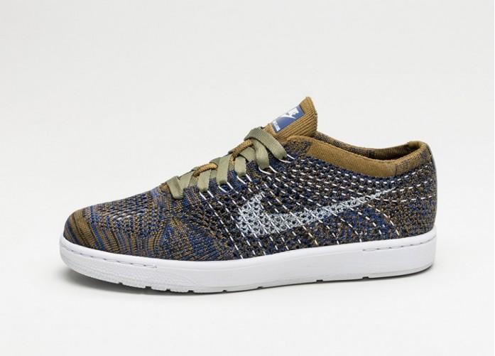 Мужские кроссовки Nike Wmns Tennis Classic Ultra Flyknit (Olive Flak / White - Deep Royal Blue - Black) | Интернет-магазин Sole
