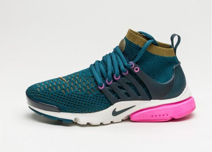 Мужские кроссовки Nike Wmns Air Presto Flyknit Ultra (Midnight Turquoise / Olive Flak - Pink Blast) | Интернет-магазин Sole