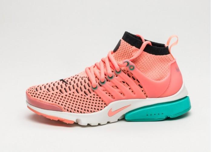Мужские кроссовки Nike Wmns Air Presto Flyknit Ultra (Atomic Pink / Black - Clear Jade) | Интернет-магазин Sole