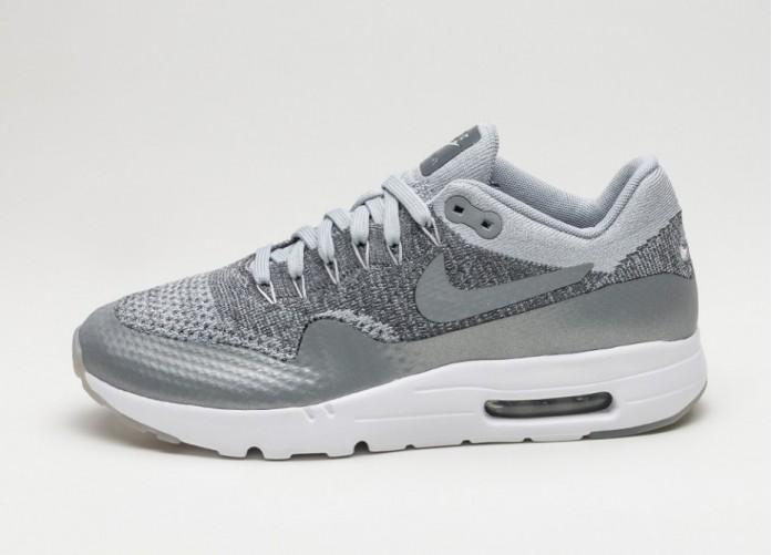 ebc40c7a Мужские кроссовки Nike Air Max 1 Ultra Flyknit (Wolf Grey / Wolf Grey - Dark