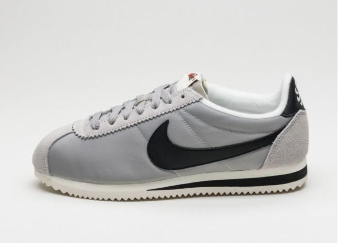 Мужские кроссовки Nike Classic Cortez Nylon AW (Matte Silver / Black - Sail) | Интернет-магазин Sole