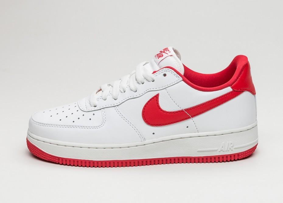 e898eb48 Мужские кроссовки Nike Air Force 1 Low Retro (Summit White / University  Red)