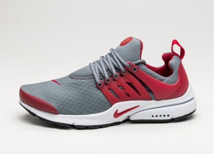 Мужские кроссовки Nike Air Presto Essential (Cool Grey / Gym Red - White - Black) | Интернет-магазин Sole