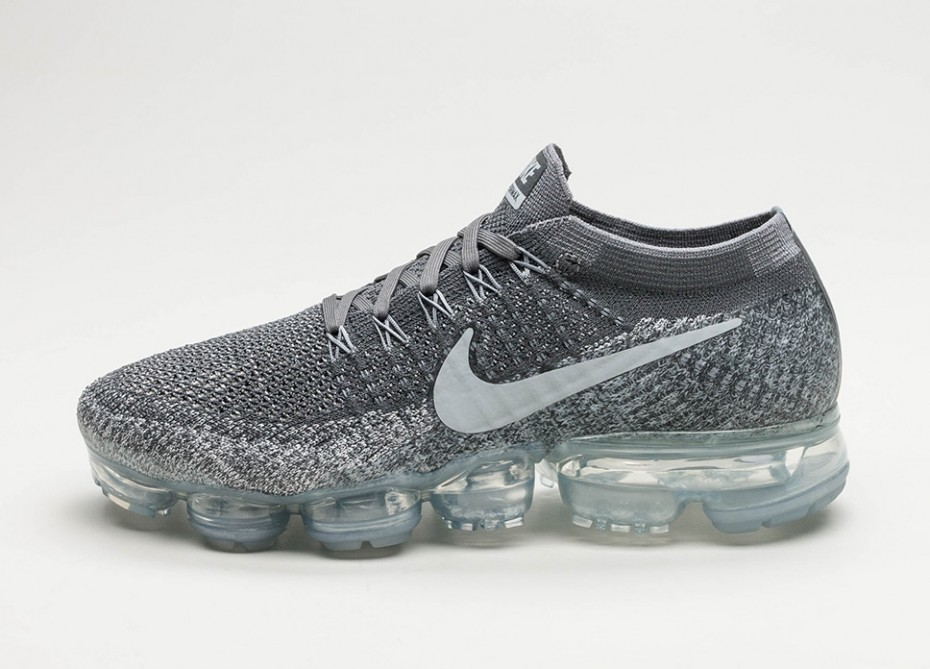 cute cheap best online quality products Мужские кроссовки Nike Air Vapormax Flyknit (Dark Grey / Black - Wolf Grey  - Pure Platinum)