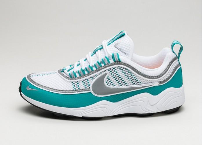 Мужские кроссовки Nike Air Zoom Spiridon (White / Silver - Turbo Green - Laser Orange)   Интернет-магазин Sole
