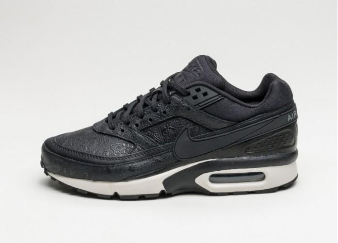 Женские кроссовки Nike Wmns Air Max BW PRM *Paisley Pack* (Black / Dark Grey - Black - Light Bone)   Интернет-магазин Sole