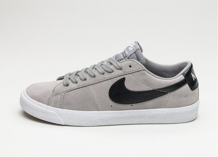 Мужские кроссовки Nike SB Blazer Zoom Low (Dust / Black - White - Gum Light Brown) | Интернет-магазин Sole