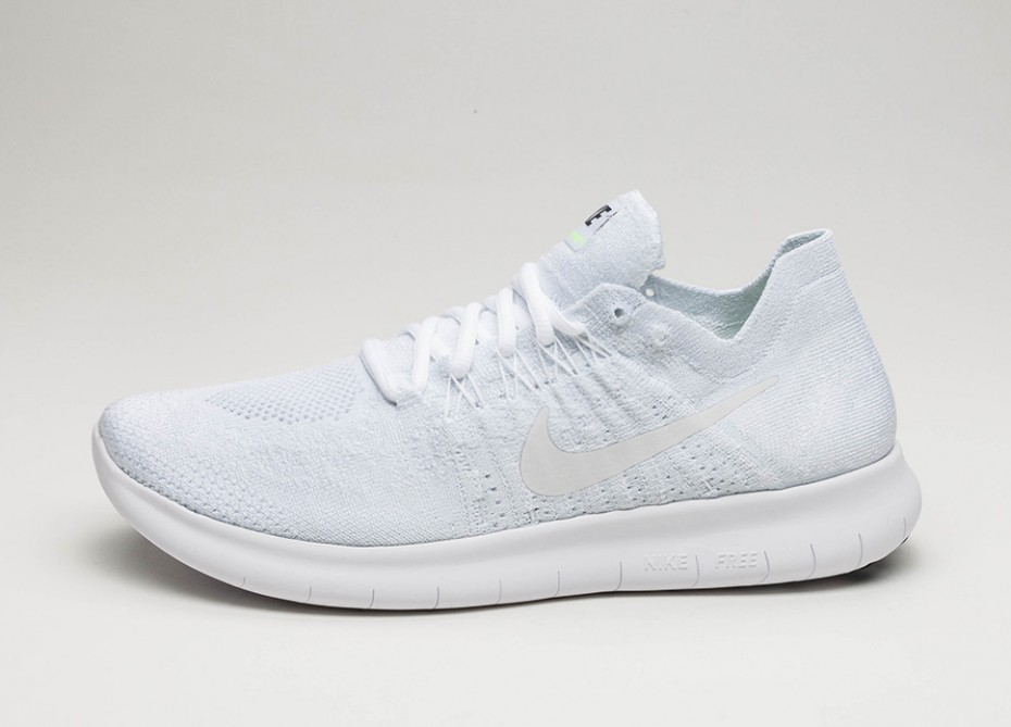 new concept 80af0 4fa20 Мужские кроссовки Nike Free RN Flyknit 2017 (White   White - Pure Platinum  - Black