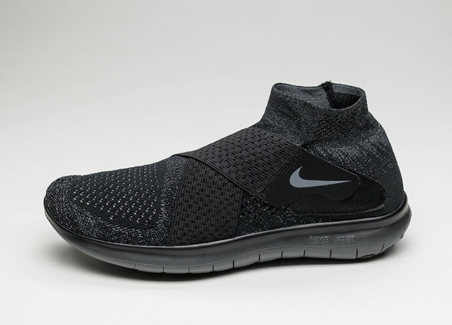 Мужские кроссовки Nike Free RN Motion Flyknit 2017 (Black Dark Grey Anthracite Volt)