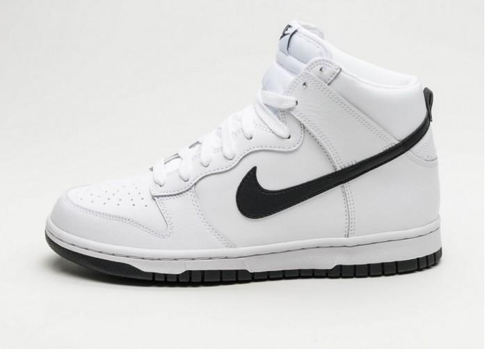 144a56db Мужские кроссовки Nike Dunk Hi (White / Black) | Интернет-магазин Sole