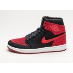 Мужские кроссовки Nike Air Jordan 1 Retro High Flyknit (Black / Varsity Red - White), фото 1 | Интернет-магазин Sole
