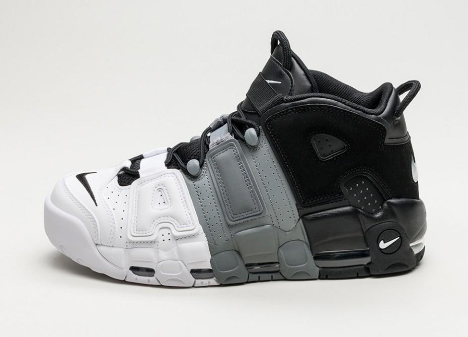 Мужские кроссовки Nike Air More Uptempo \u002796 (Black / Black , Cool Grey ,