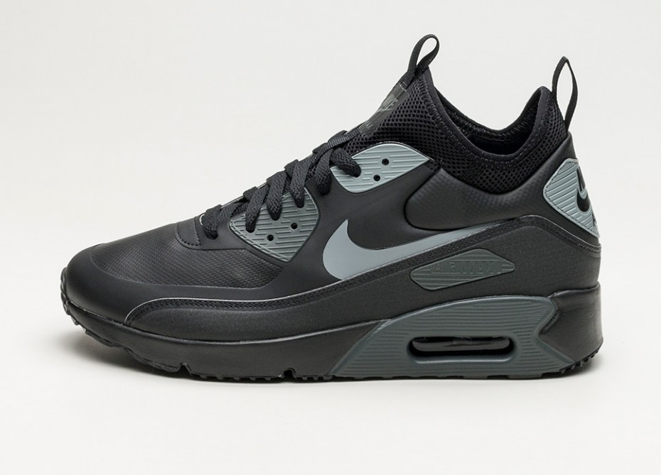 ??????? ????????? Nike Air Max 90 Ultra Mid Winter (Black Cool Grey Anthracite)