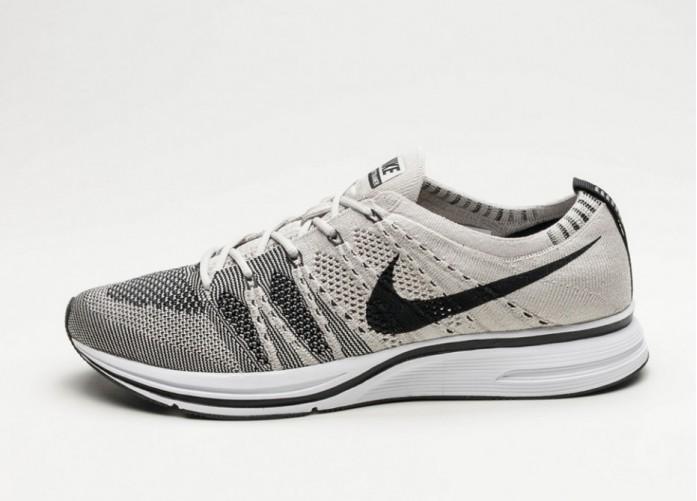 Мужские кроссовки Nike Flyknit Trainer (Pale Grey / Black - White)   Интернет-магазин Sole