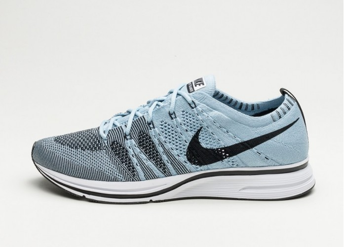Мужские кроссовки Nike Flyknit Trainer (Cirrus Blue / Black - White) | Интернет-магазин Sole