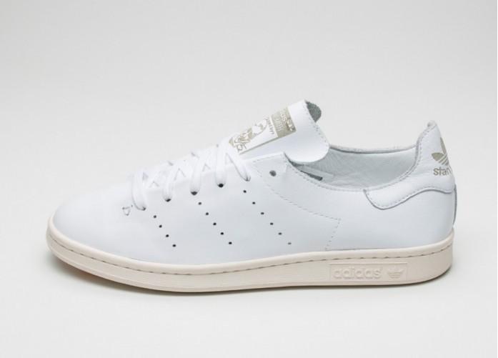 Мужские кроссовки adidas Stan Smith Lea Sock (Ftwr White / Ftwr White / Off White) | Интернет-магазин Sole