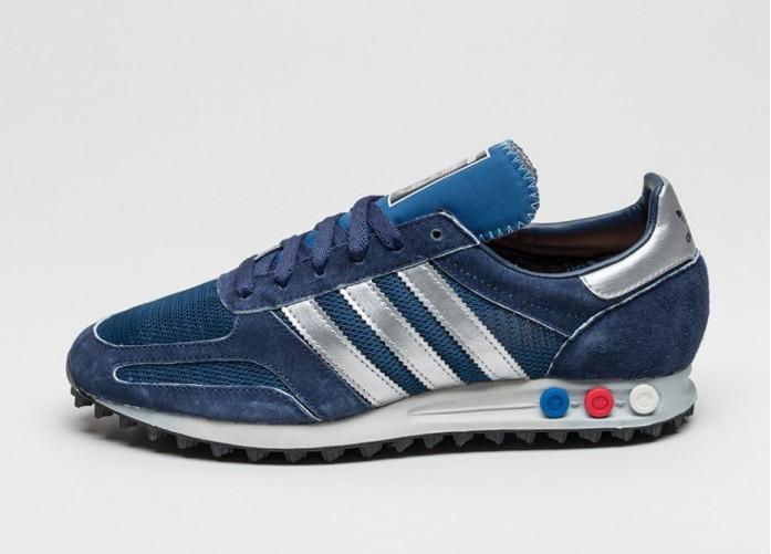 Мужские кроссовки adidas LA Trainer OG (Dark Marine / Silver Metallic / Dark Blue) | Интернет-магазин Sole