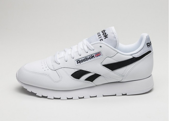 Мужские кроссовки Reebok Classic Leather Pop (White / Black) | Интернет-магазин Sole