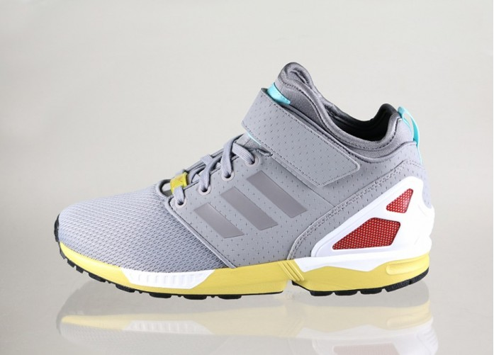 Мужские кроссовки adidas ZX FLUX NPS MID (Light Onix / Light Onix / White) | Интернет-магазин Sole