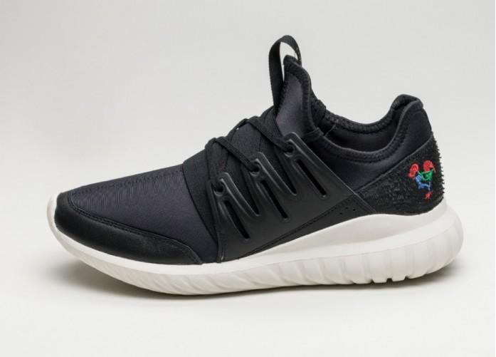 Мужские кроссовки adidas Tubular Radial CNY (Core Black / Core Black / Chalk White)   Интернет-магазин Sole