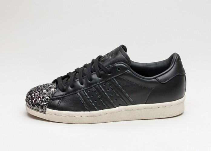 Мужские кроссовки adidas Superstar 80s W *3D Metal Toe* (Core Black / Core Black / Off White)   Интернет-магазин Sole