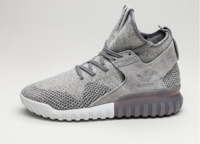 Мужские кроссовки adidas Tubular X Primeknit (Charcoal Solid Grey / Utility Black / Crystal White)   Интернет-магазин Sole