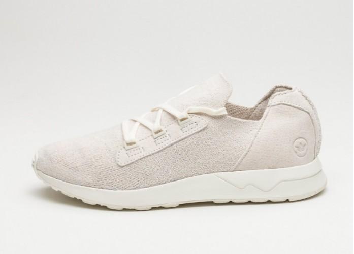 Мужские кроссовки adidas x Wings + Horns ZX Flux X (Off White / Off White / Off White)   Интернет-магазин Sole