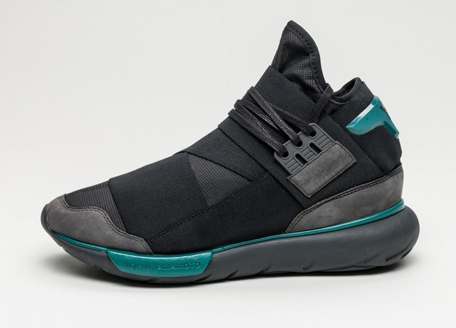 818a69d547b Мужские кроссовки adidas Y-3 Qasa High (Charcoal   Core Black   Real Teal
