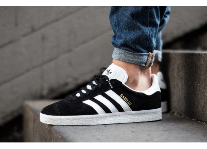 Мужские кроссовки adidas Originals Gazelle - Core Black/White | Интернет-магазин Sole