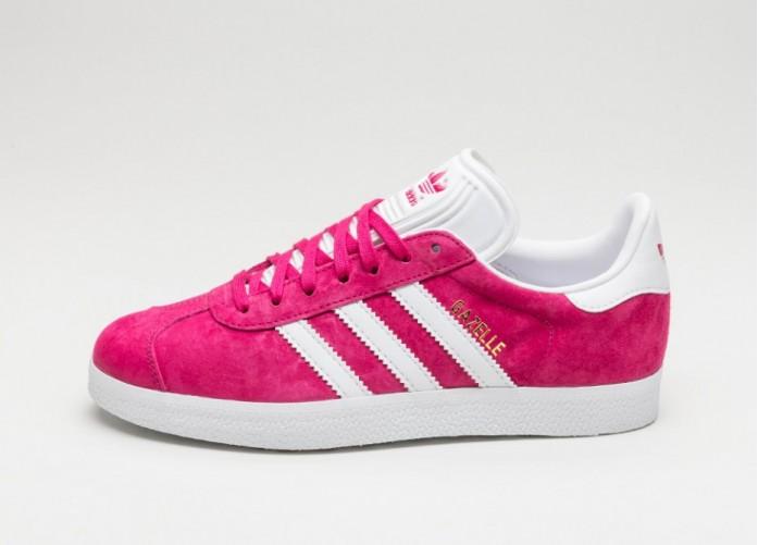 Мужские кроссовки adidas Gazelle (Bold Pink / White / Gold Metallic)   Интернет-магазин Sole