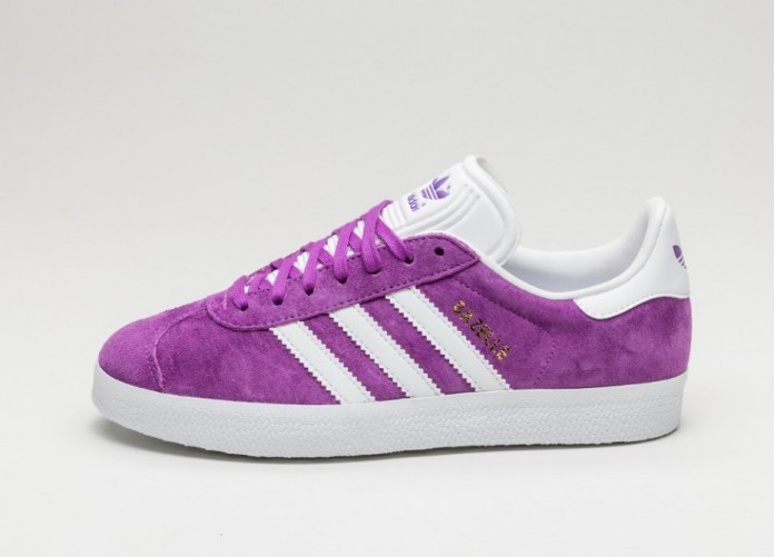 Мужские кроссовки adidas Gazelle (Shock Purple / White / Gold Metallic) | Интернет-магазин Sole