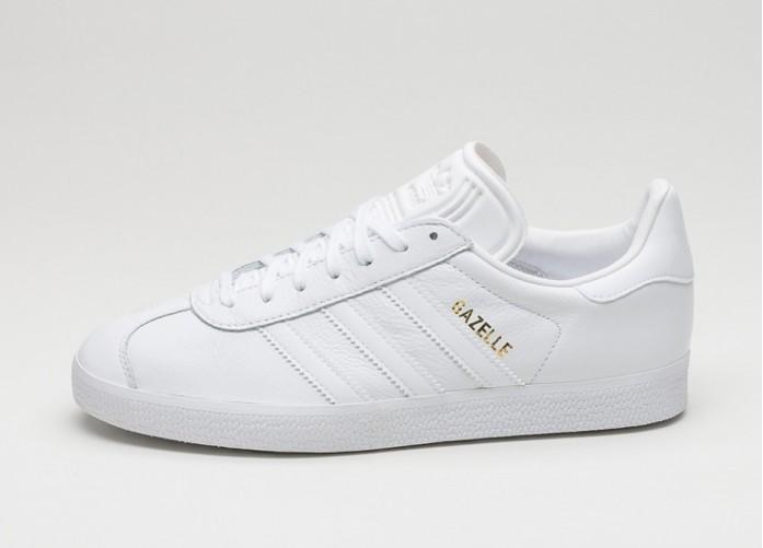 Мужские кроссовки adidas Gazelle (Ftwr White / Ftwr White / Gold Metallic)   Интернет-магазин Sole