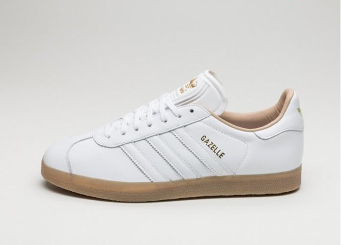 Мужские кроссовки adidas Gazelle (Ftwr White / Ftwr White / Gold Metallic) | Интернет-магазин Sole