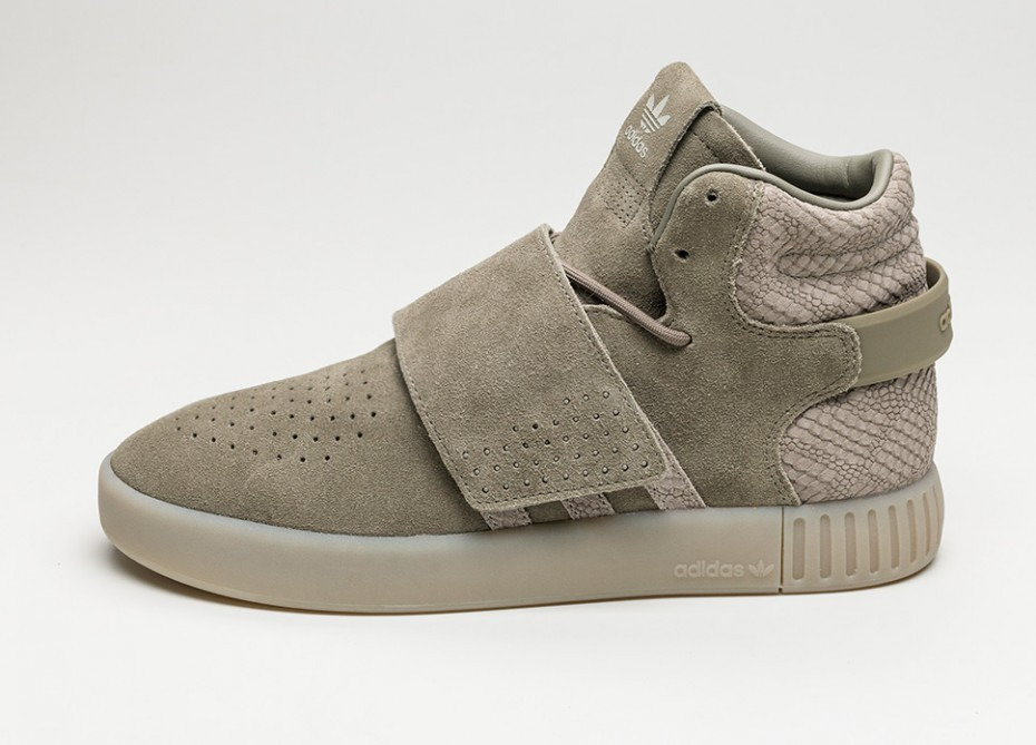 official images limited guantity new style Мужские кроссовки adidas Tubular Invader Strap (Trace Cargo / Trace Cargo /  Sesame)