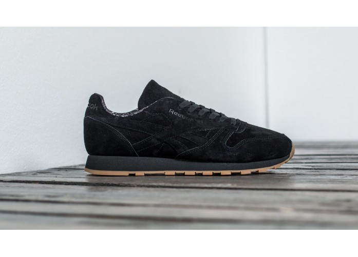 Мужские кроссовки Reebok Classic Leather TDC - Black/Gum | Интернет-магазин Sole