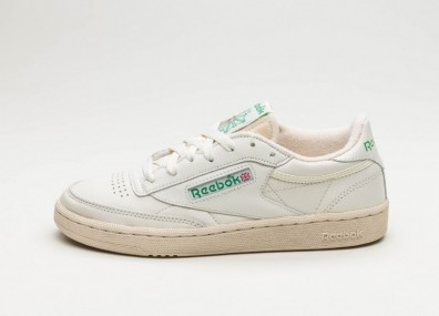 Кроссовки Reebok Club C 85 Vintage (Chalk / Green / White / Red)