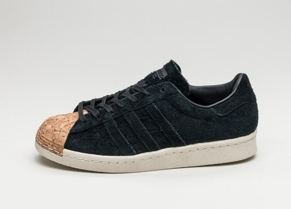 Мужские кроссовки adidas Superstar 80s Cork (Core Black   Core Black   Off  White) c2caaff4f7b54