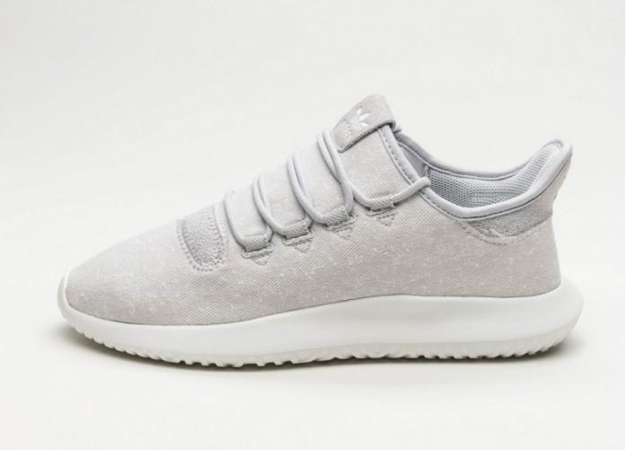 Мужские кроссовки adidas Tubular Shadow (Grey Two / Crystal White / Crystal White) | Интернет-магазин Sole