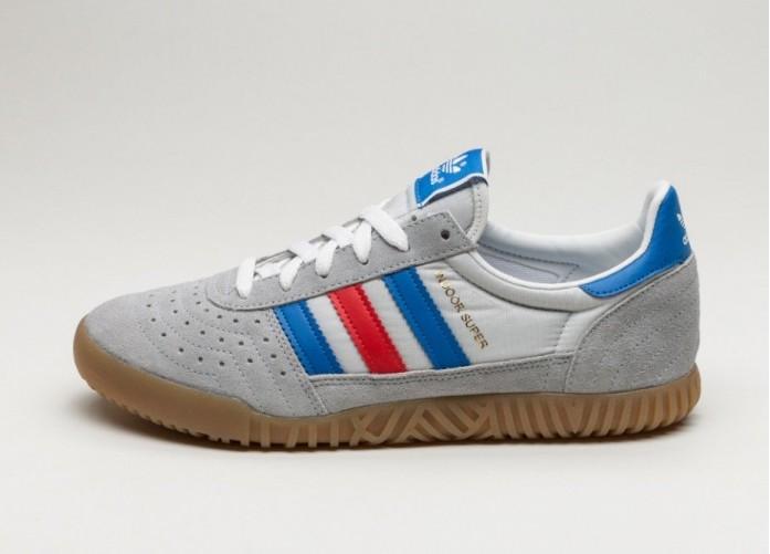 Мужские кроссовки adidas Indoor Super (Clear Onix / Blue / Red) | Интернет-магазин Sole