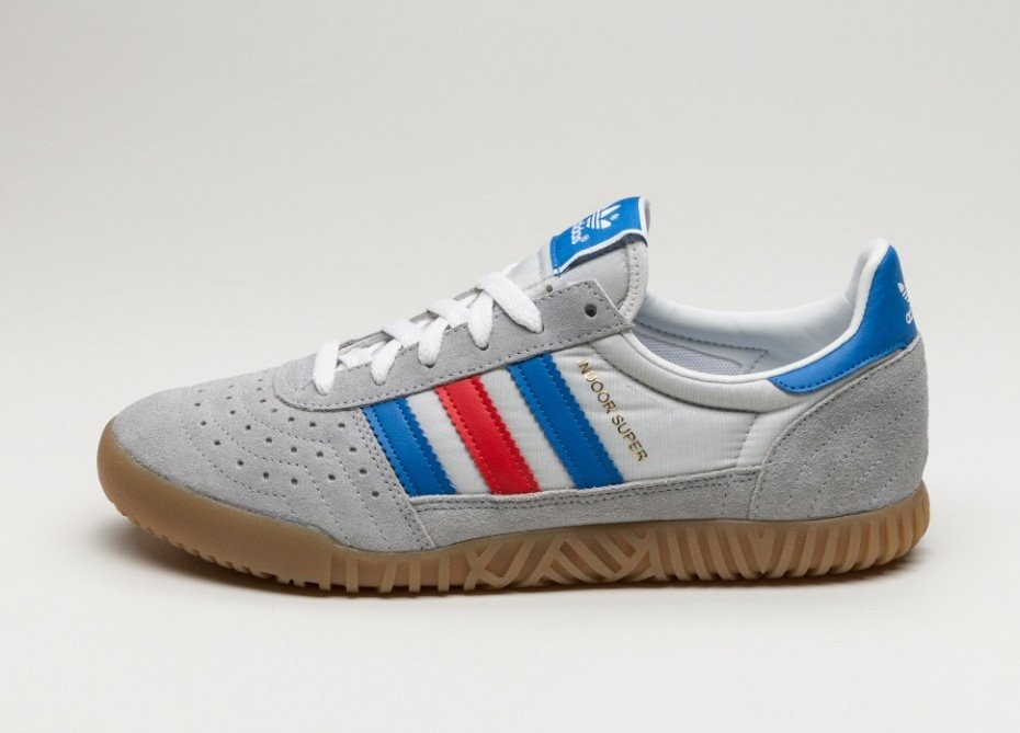 09c3639f5fcc Мужские кроссовки adidas Indoor Super (Clear Onix   Blue   Red ...