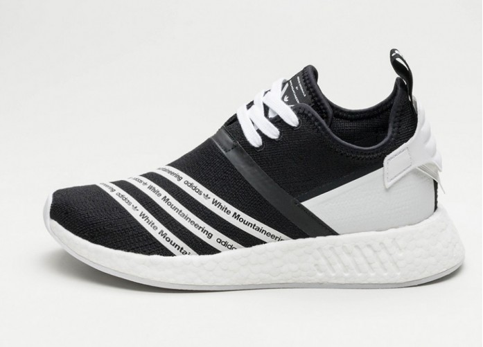 Мужские кроссовки adidas x White Mountaineering NMD R2 PK (Core Black    Ftwr White   feb89438eb1